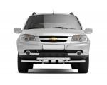 Декоративная защита картера двойная с круглыми зубьями Ø51/63мм Chevrolet Niva FL (нерж)