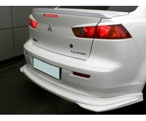 юбка заднего бампера на Mitsubishi Lancer X
