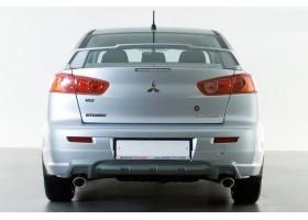 "Накладка на задний бампер Mitsubishi Lancer X"" YT"""