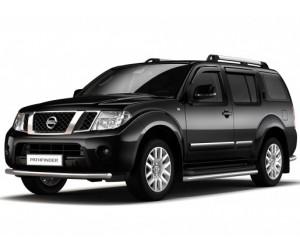 Защита порогов Ø51мм Nissan Pathfinder (нерж)