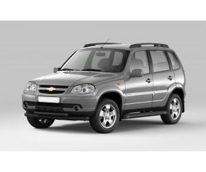 Защита порогов с площадкой Ø63мм Chevrolet Niva FL (ППК)