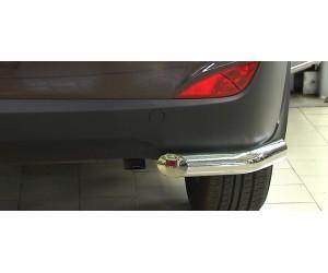 Защита заднего бампера угловая Ø63мм Hyundai IX35 (нерж)