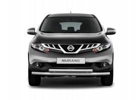 Защита переднего бампера двойная Ø63мм Nissan Murano (нерж)