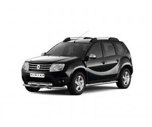 Защита порогов Ø63мм Renault Duster (нерж)
