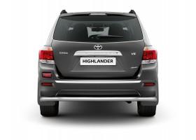 Защита заднего бампера (полная) Ø63мм Toyota Highlander (нерж)