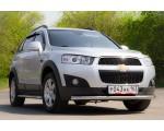 Декоративная защита картера двойная Ø51/63мм Chevrolet Captiva FL (нерж)