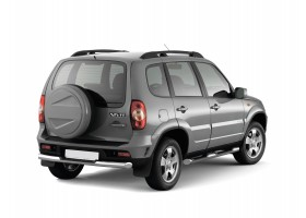 Защита порогов с накладками Ø76мм Chevrolet Niva FL (нерж)