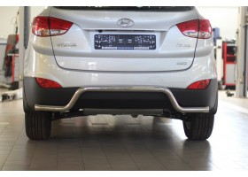 Защита заднего бампера фигурная Ø51мм Hyundai IX35 (нерж)