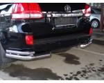 Защита заднего бампера угловая двойная Ø51/76мм, Toyota Land Cruiser 200, Lexus 570 (нерж)