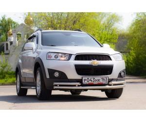 Декоративная защита картера одинарная Ø63мм Chevrolet Captiva FL (нерж)