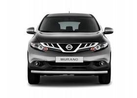 Защита переднего бампера одинарная Ø63мм Nissan Murano (нерж)