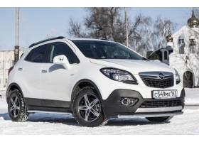 Декоративная защита картера одинарная Ø51мм Opel Mokka (нерж)