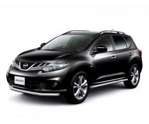 Защита порогов Ø63мм Nissan Murano (нерж)