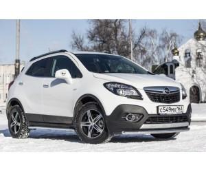 Декоративная защита картера одинарная Ø51мм Opel Mokka 4х4 (нерж)