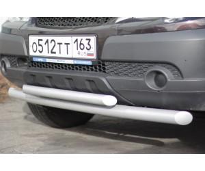 Декоративная защита картера двойная Ø51/63мм Chevrolet Niva FL (ППК)