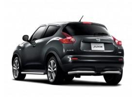 Защита заднего бампера (полная) Ø51мм Nissan Juke 4х4 (нерж)