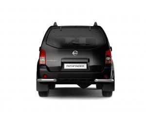 Защита заднего бампера (уголки) Ø63мм Nissan Pathfinder (нерж)