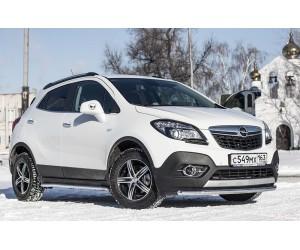 Защита порогов вогнутые Ø51мм Opel Mokka (нерж)