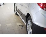 Защита порогов Ø63мм Hyundai IX35 (нерж)