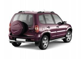 Защита порогов вогнутые Ø76мм Chevrolet Niva FL (нерж)