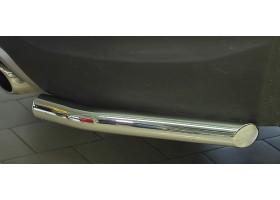 Защита заднего бампера угловая Ø51мм Hyundai Santa Fe (нерж) 2013
