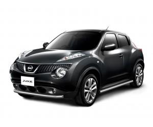 Защита порогов Ø51мм Nissan Juke (нерж)