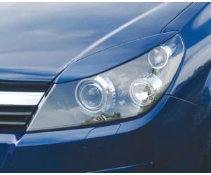 Реснички на фары Opel Astra H/GTC var№1 узкие