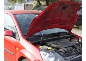 Упор капота Ford Fiesta (2001).