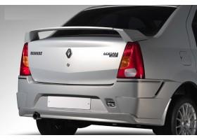 Накладки на задний бампер (Нерж) Renault Logan YT-1