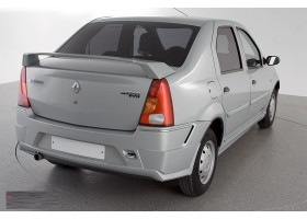 Накладки на задний бампер (Нерж) Renault Logan YT-2