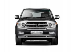 Защита переднего бампера двойная Ø63/63мм Toyota Land Cruiser 200 (нерж) (2012 - )