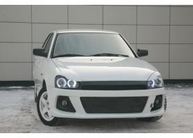 """Тюнинг бампер передний """"Снайпер WRC"""" на Лада Приора"""
